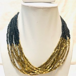 Black seed beads necklace